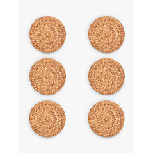 Buy John Lewis Water Hyacinth Round Placemats, Natural, Set of 6 Online at johnlewis.com