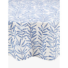 Buy John Lewis Painterly Leaf Wipe Clean Round Tablecloth, Dia.180cm Online at johnlewis.com