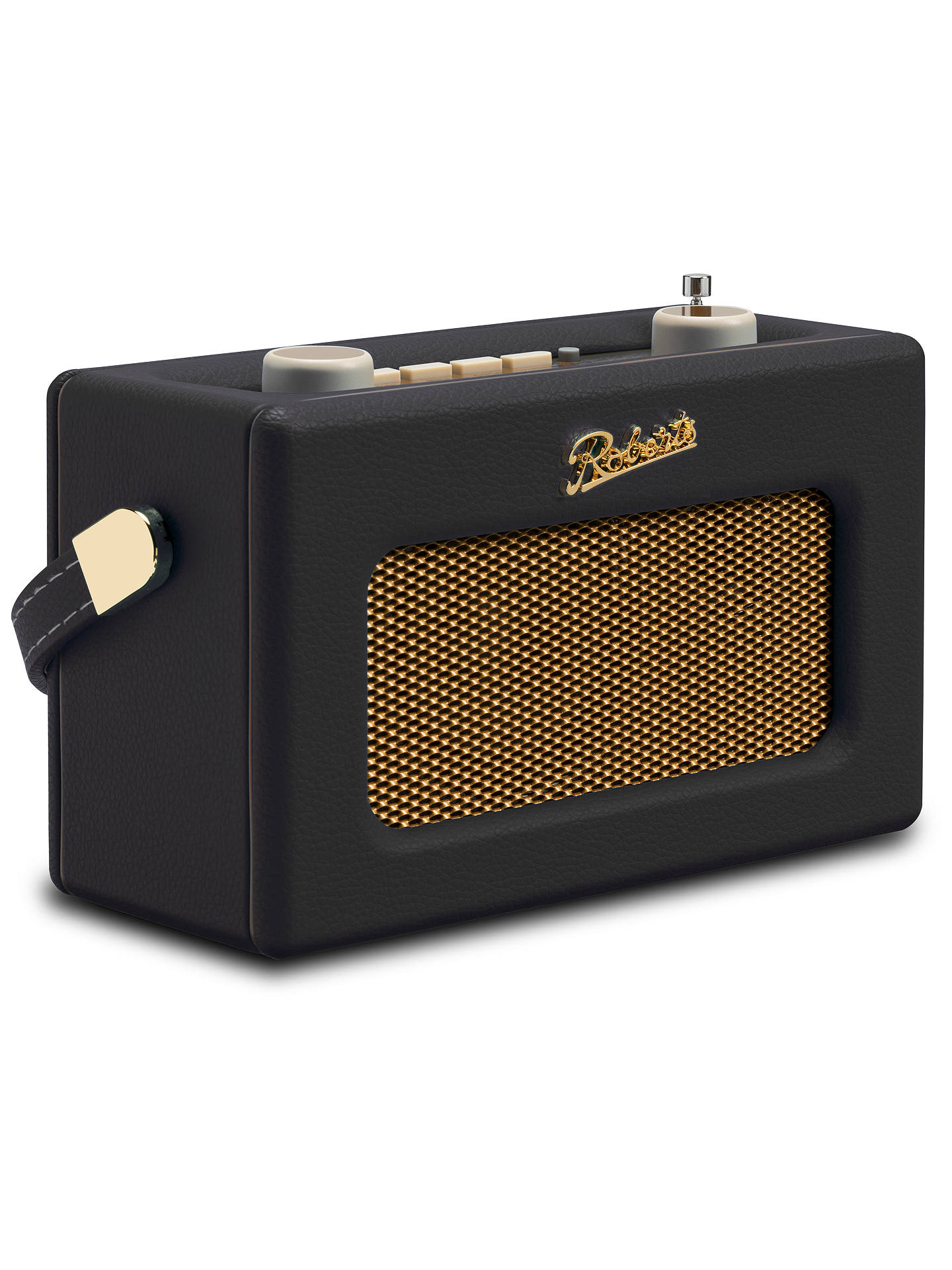 BuyROBERTS Revival Uno DAB/DAB+/FM Digital Radio with Alarm, Black Online at johnlewis.com
