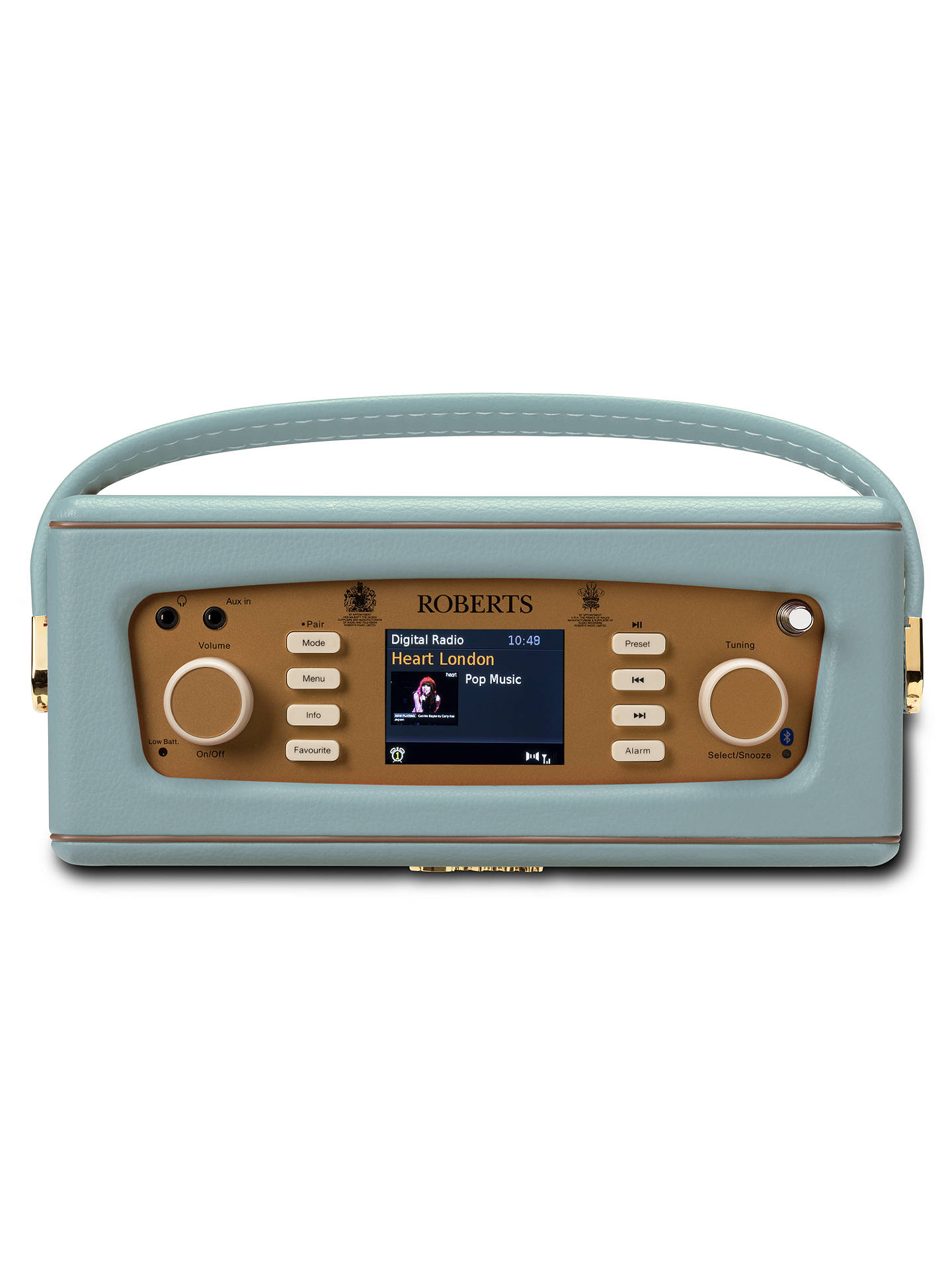 Buy ROBERTS Revival RD70 DAB/DAB+/FM Bluetooth Digital Radio with Alarm, Duck Egg Online at johnlewis.com