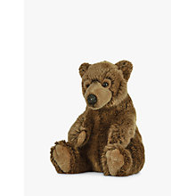 Buy Living Nature Brown Bear Plush Soft Toy, Brown Online at johnlewis.com