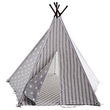 Buy Great Little Trading Co Teepee, Grey Star Online at johnlewis.com