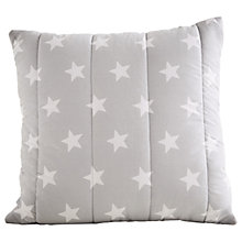 Buy Great Little Trading Co Quilted Cushion, Grey Star Online at johnlewis.com