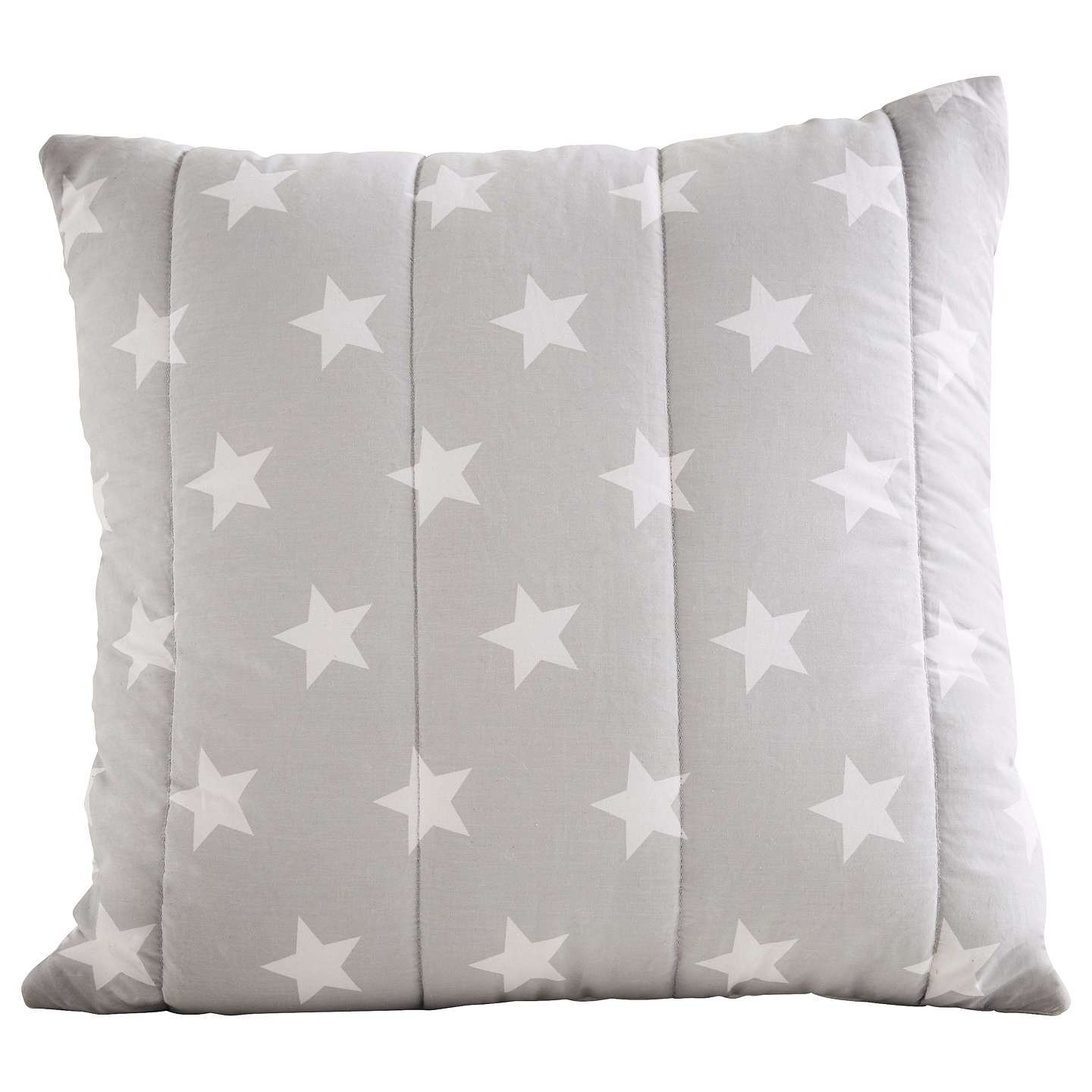 BuyGreat Little Trading Co Quilted Cushion, Grey/White Star Online at johnlewis.com