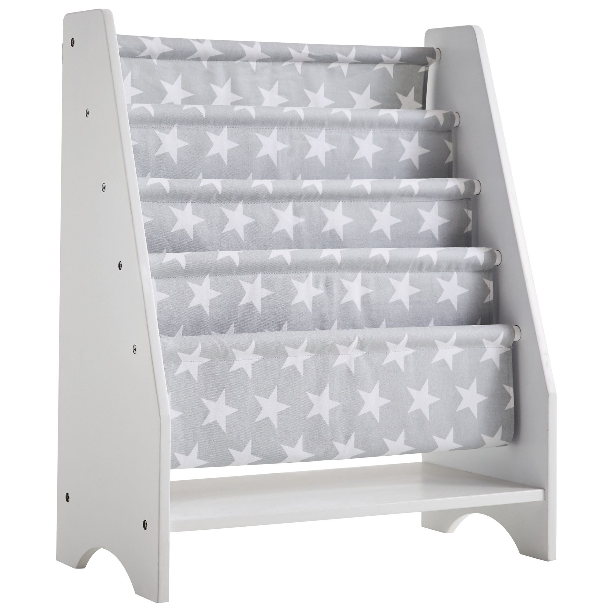 Great Little Trading Co Sling Bookcase Grey Star