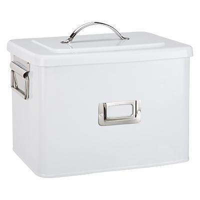 Croft Collection Enamel Storage Bin, Medium