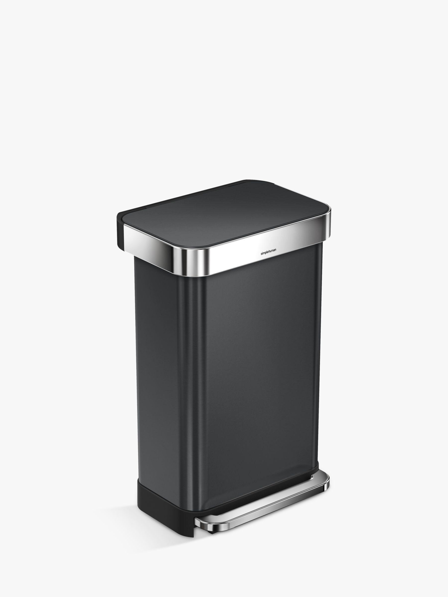 Simplehuman simplehuman Stainless Steel Pedal Bin, 45L, Black
