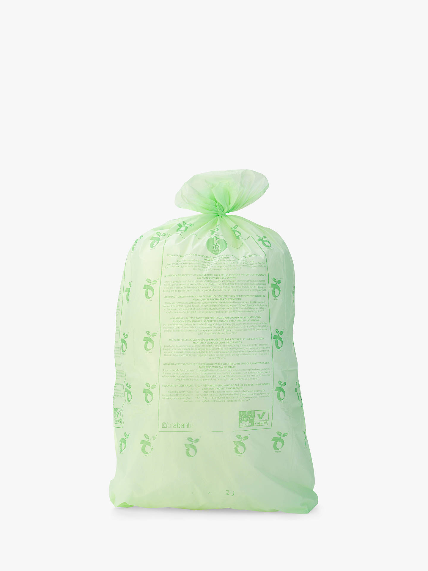 Buybrabantia Perfectfit Bin Liner Size X 12l 20 Bags Online At Johnlewis