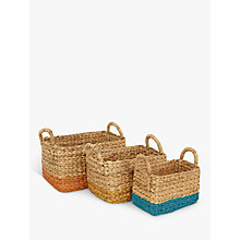Buy John Lewis Fusion Water Hyacinth Basket, Pack of 3 Online at johnlewis.com