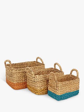 Buy John Lewis & Partners Fusion Water Hyacinth Basket, Pack of 3 Online at johnlewis.com