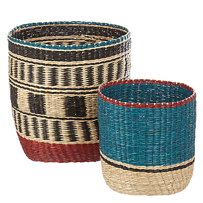 John Lewis Fusion Seagrass Basket, Pack of 2
