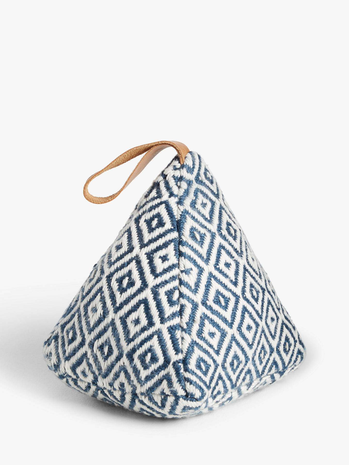 Buy John Lewis & Partners Patterned Door Stop, Navy Online at johnlewis.com