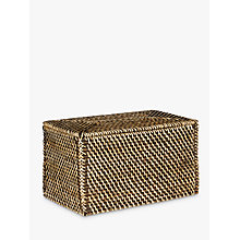 Buy John Lewis Fusion Dark Rattan Lid Basket, Large Online at johnlewis.com