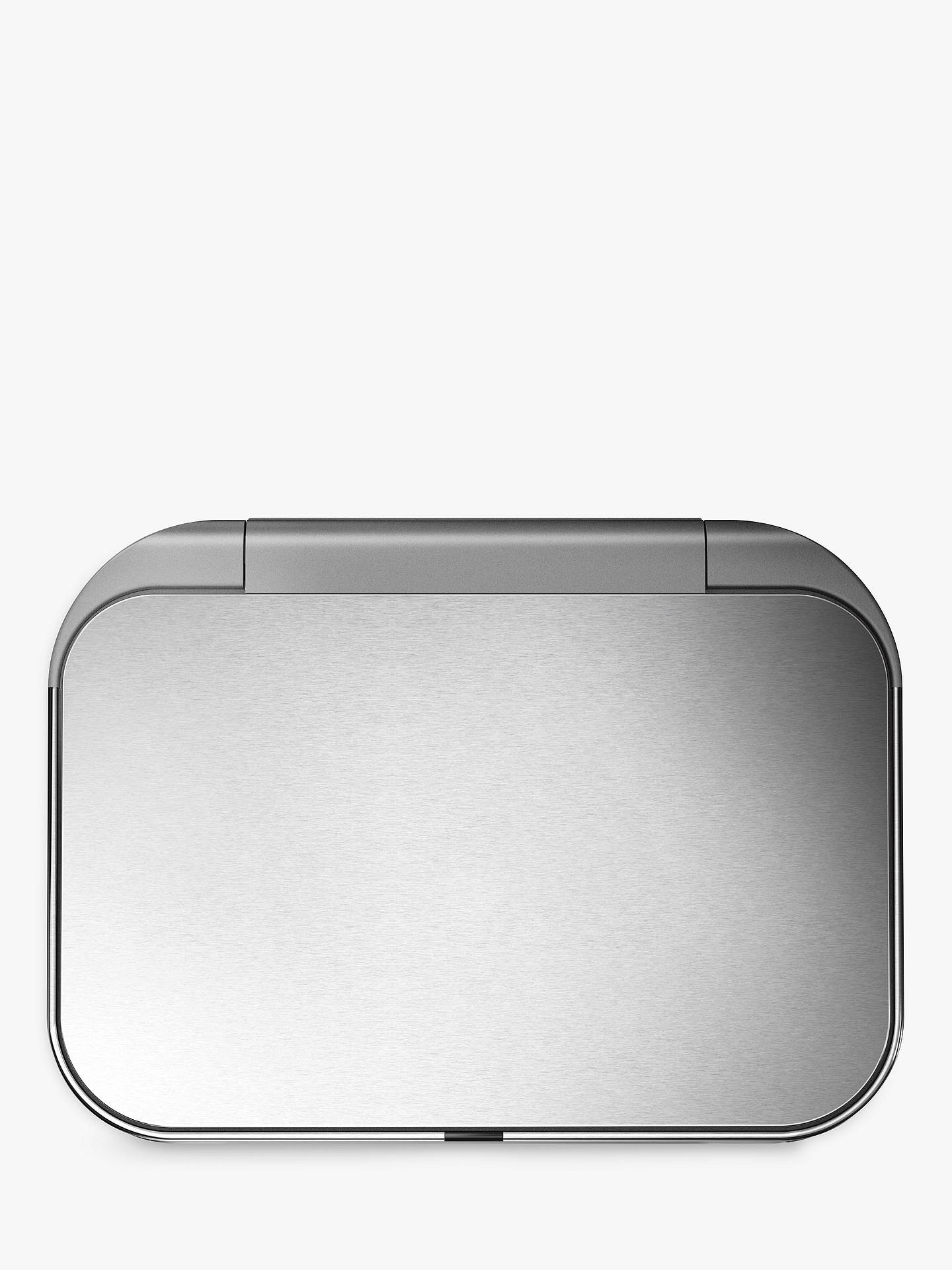 Buy simplehuman Voice Activated Fingerprint Proof Bin, 58L, Brushed Steel Online at johnlewis.com