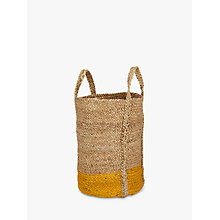 Buy John Lewis Dipped Based Tote, Yellow Online at johnlewis.com
