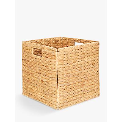John Lewis Water Hyacinth Folding Basket, Natural