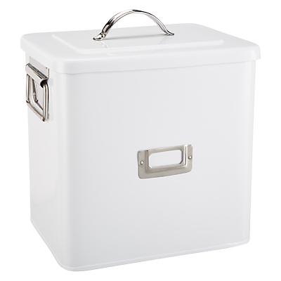 Croft Collection Enamel Storage Bin, Large