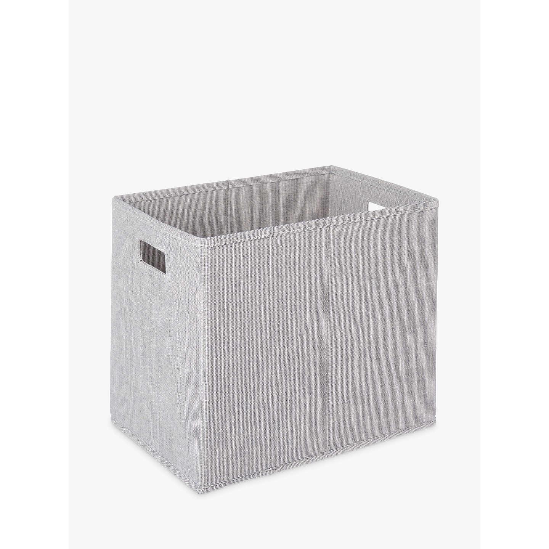 John Lewis Mix It Storage Box, Grey, Large at John Lewis
