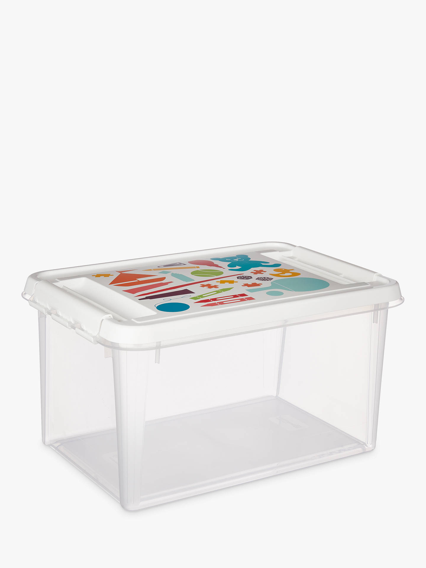 Buy Smartstore by Orthex Deco Plastic Toy Box, 32L Online at johnlewis.com