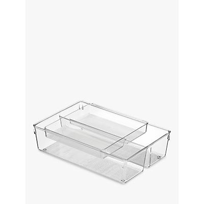 iDesign Drawer Organiser, Clear, 2 Piece