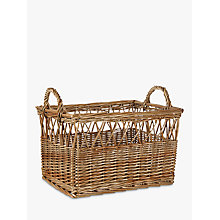 Buy John Lewis Croft Collection Willow Basket, Large Online at johnlewis.com