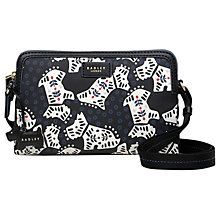 Buy Radley Folk Dog Fabric Small Cross Body Bag, Black Online at johnlewis.com