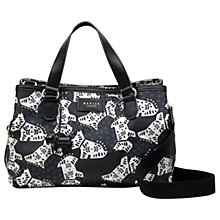 Buy Radley Folk Dog Fabric Medium Grab Bag, Black Online at johnlewis.com