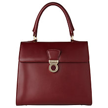 Buy L.K. Bennett Amy Leather Shoulder Bag, Oxblood Online at johnlewis.com