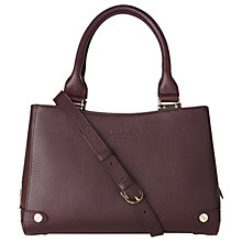 Buy L.K. Bennett Izzy Leather Tote Bag, Oxblood Online at johnlewis.com