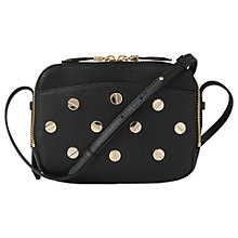 Buy L.K. Bennett Mariel Studded Leather Shoulder Bag, Black Online at johnlewis.com