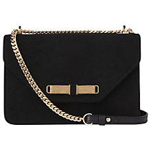 Buy L.K. Bennett Karla Suede Shoulder Bag, Black Online at johnlewis.com