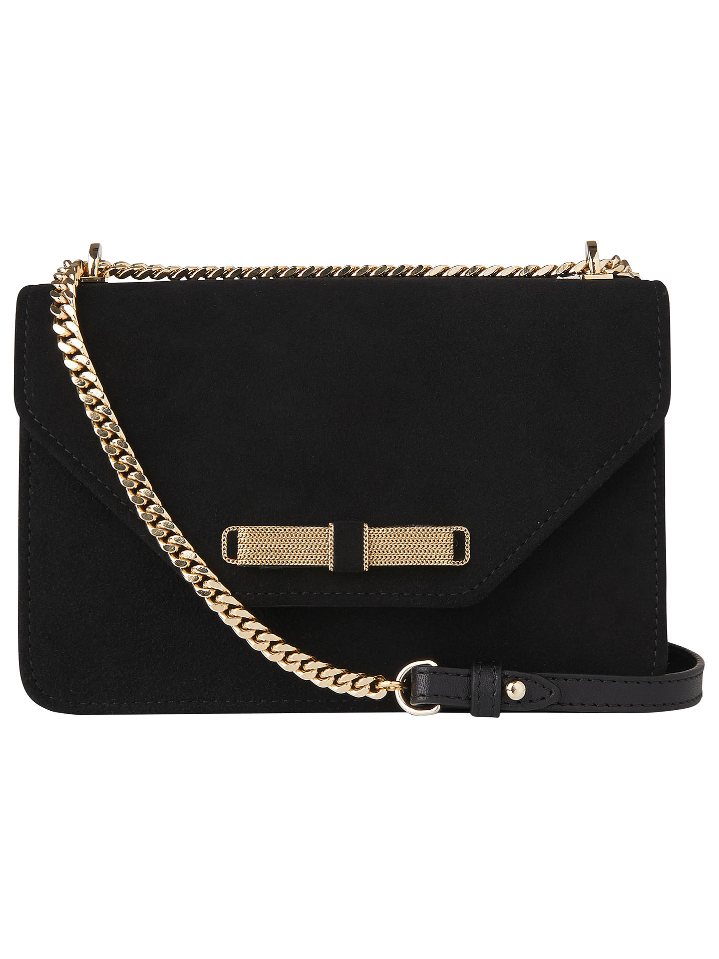 K Bennett Karla Suede Shoulder Bag Black Online At Johnlewis