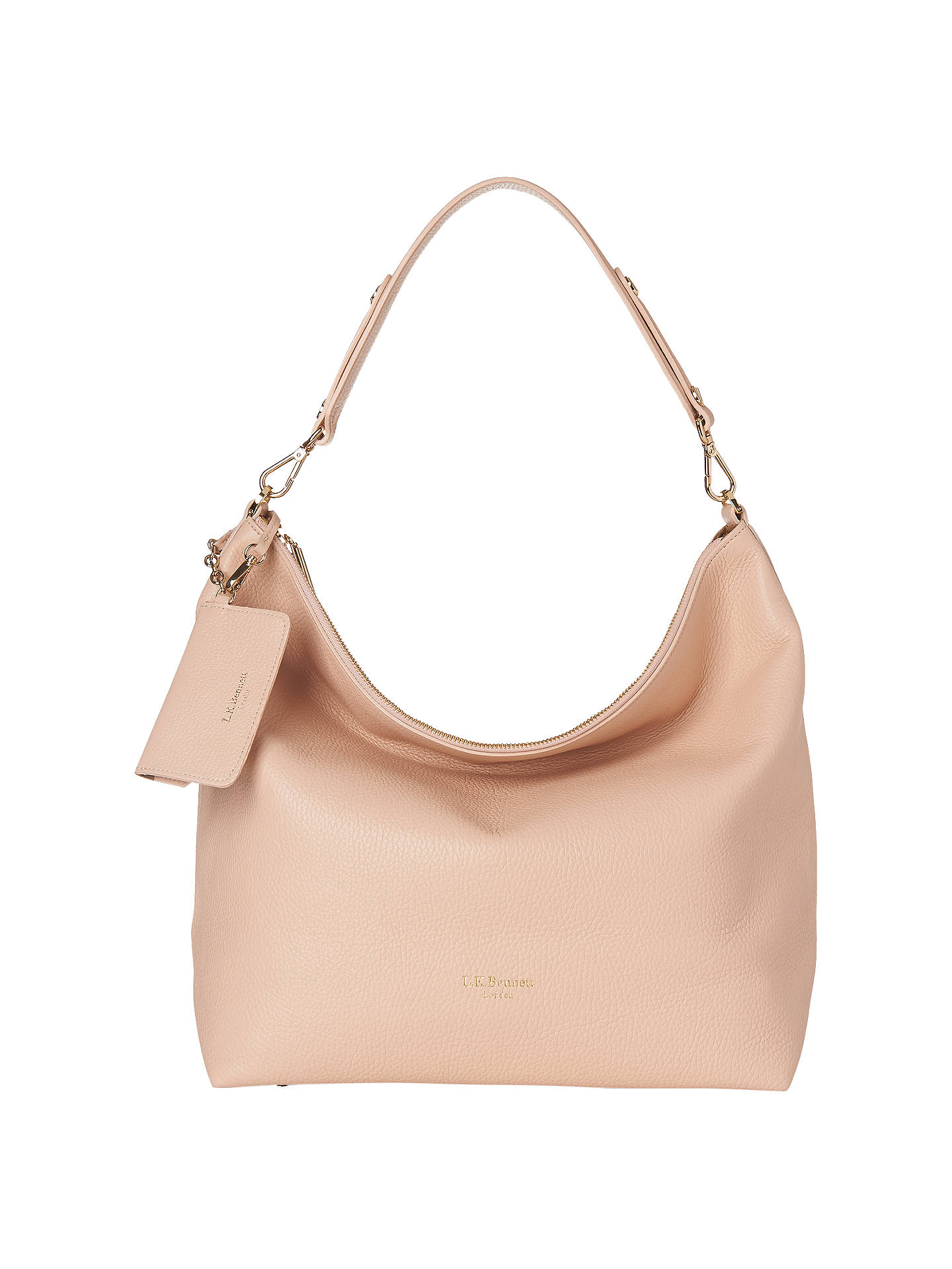 K. Bennett Margot Leather Shoulder Bag, Putty Online at johnlewis.com ...