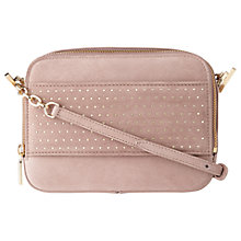 Buy L.K. Bennett Mia Studded Leather Shoulder Bag, Cloud Pink Online at johnlewis.com
