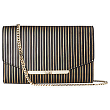 Buy L.K. Bennett Zadie Leather Shoulder Bag, Black Gold Online at johnlewis.com