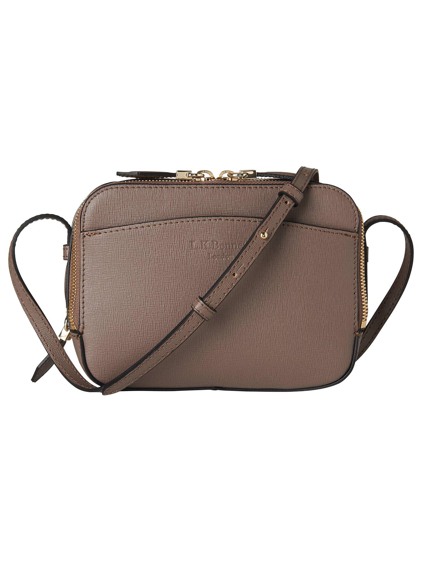 622ee9ba5be9 Buy L.K. Bennett Mariel Leather Across Body Bag, Grey Online at  johnlewis.com ...