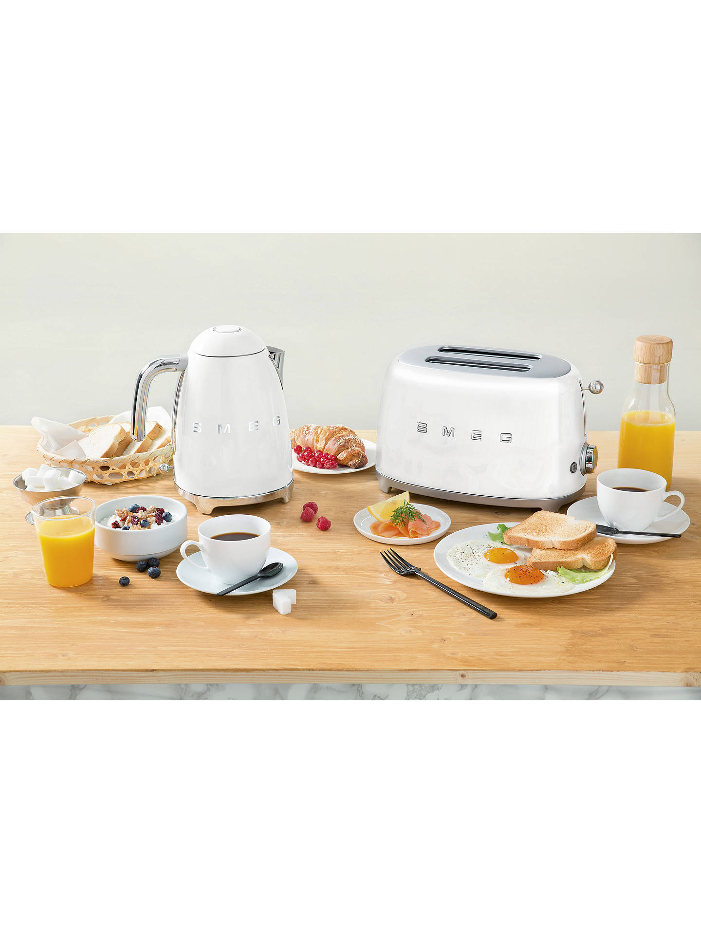 Buy Smeg KLF03 Kettle, White Online at johnlewis.com