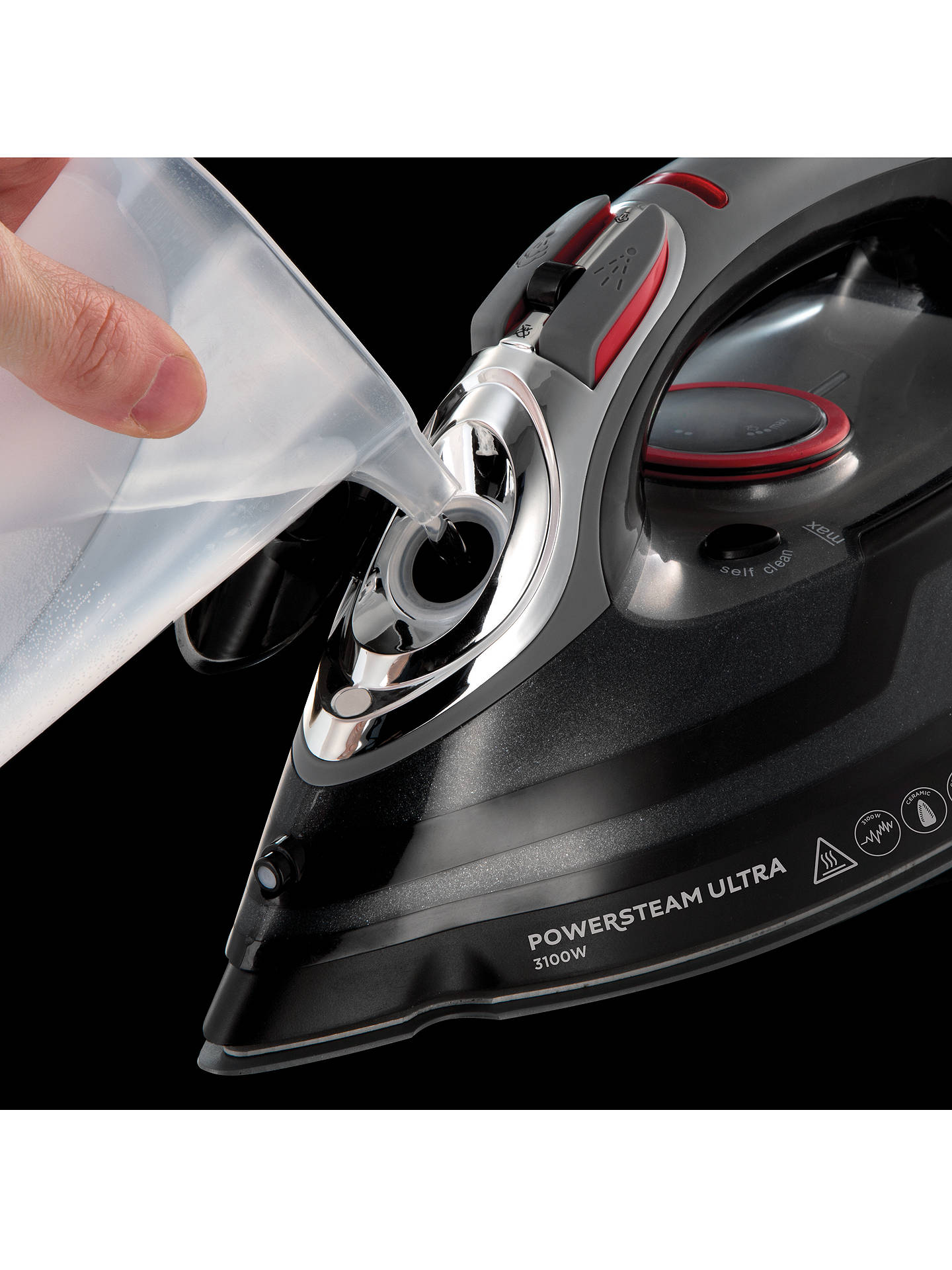 BuyRussell Hobbs 20630 Powersteam Ultra Iron, Black Online at johnlewis.com
