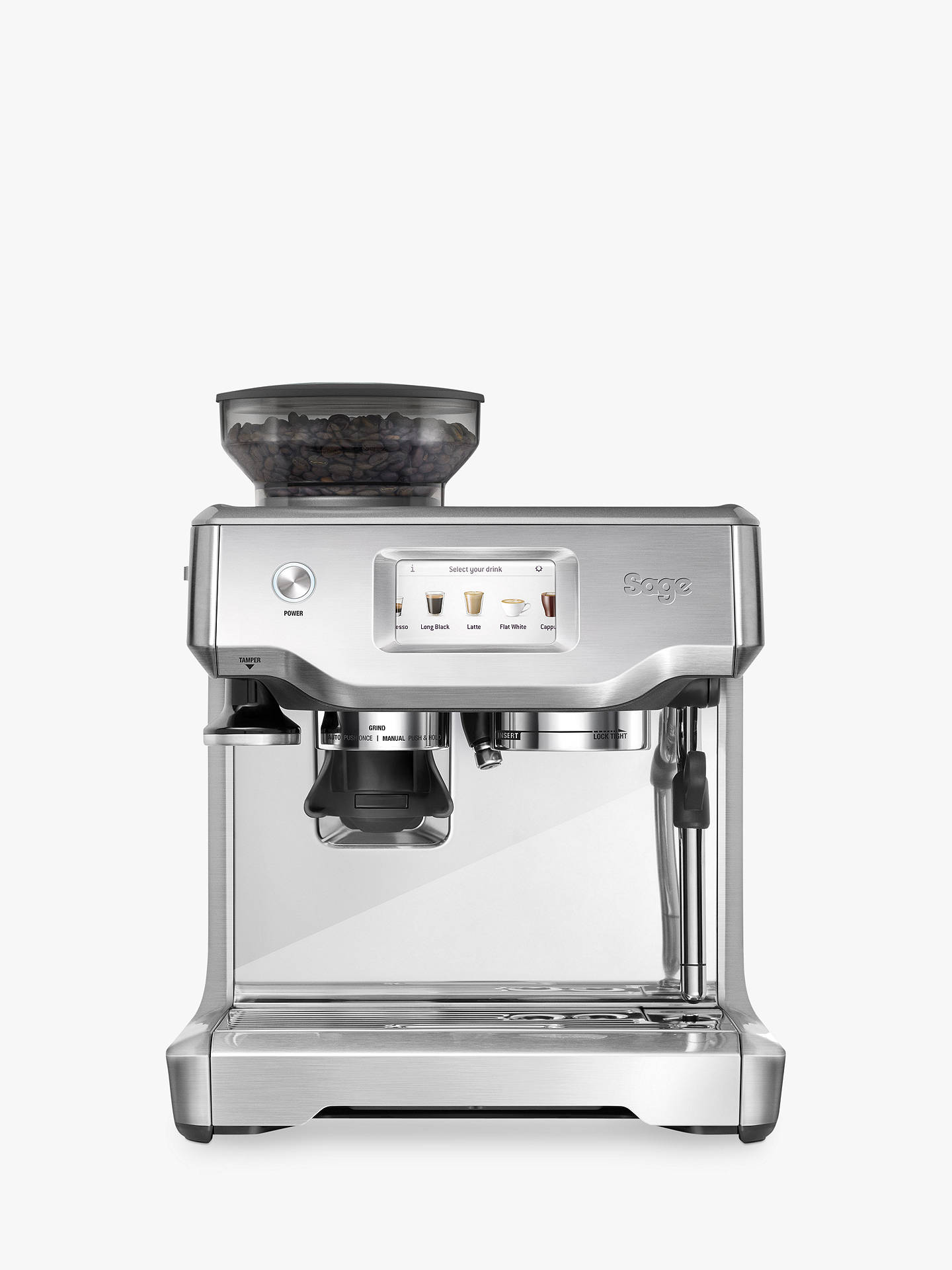 Buy Sage Barista Touch Barista Quality Bean-to-Cup Coffee Machine, Stainless Steel Online at johnlewis.com