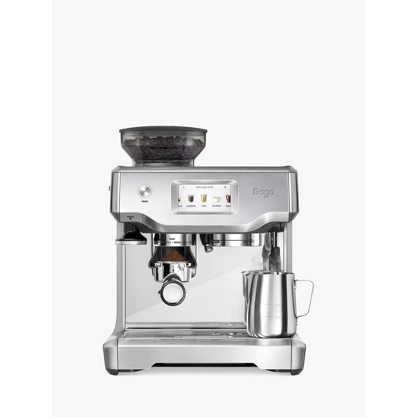BuySage Barista Touch™ Barista Quality Bean-to-Cup Coffee Machine Online at johnlewis.com