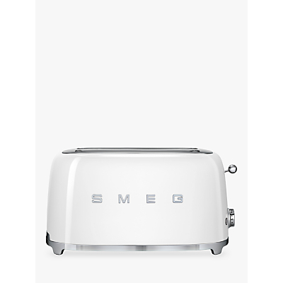 Smeg TSF02 4-Slice 2-Slot Toaster, White