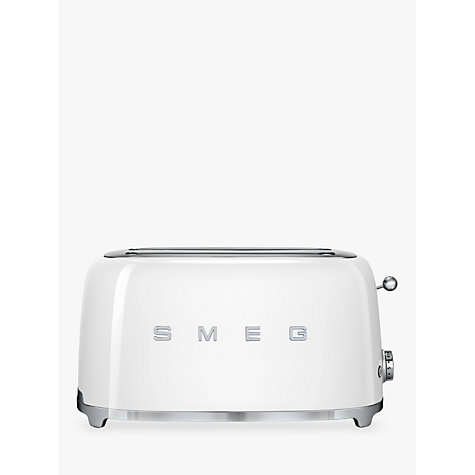 Buy Smeg TSF02 4-Slice 2-Slot Toaster, White Online at johnlewis.com