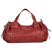 Buy Gerard Darel Le 24 GD Leather Shoulder Bag, Burgundy Online at johnlewis.com