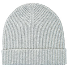 Buy Mint Velvet Fluffy Yarn Beanie, Light Grey Online at johnlewis.com