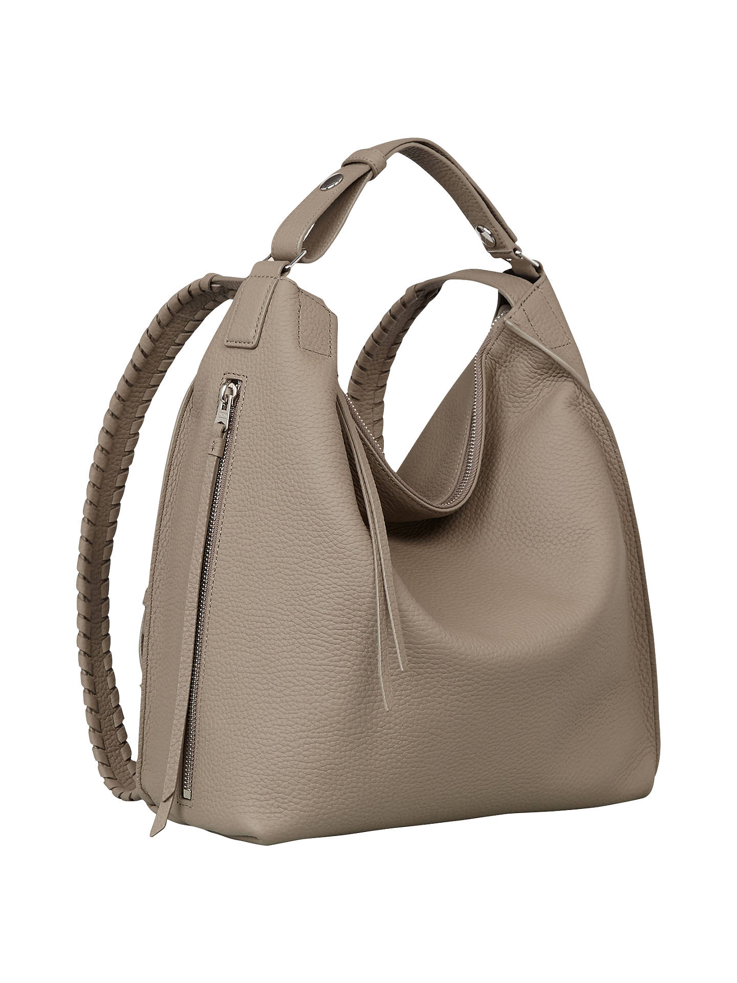 8398e1bbd93 ... BuyAllSaints Small Kita Backpack, Taupe Grey Online at johnlewis.com ...