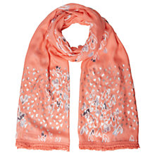 Buy White Stuff Painted With Love Scarf, Neon Orange Online at johnlewis.com