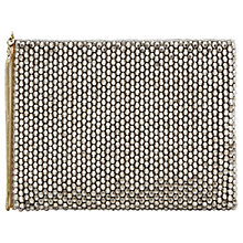 Buy Reiss Cindy Beaded Clutch Bag, Silver Online at johnlewis.com