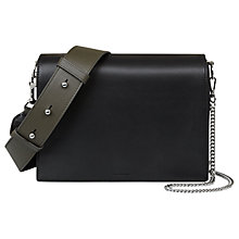 Buy AllSaints Zep Box Bag, Black Online at johnlewis.com