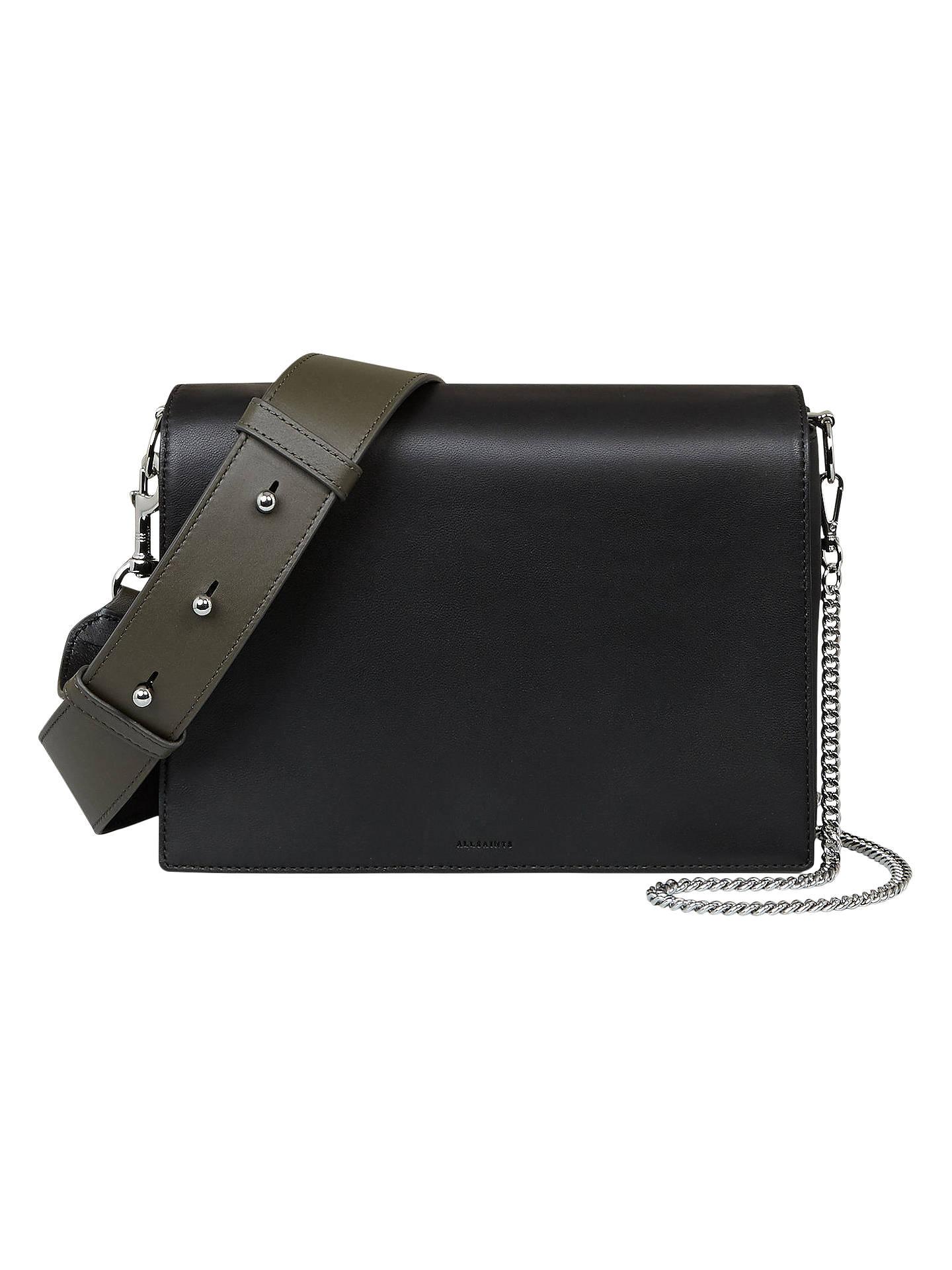 0c76c79b1b39 AllSaints Zep Leather Box Bag at John Lewis   Partners