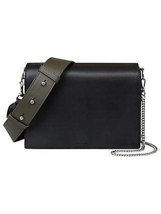 AllSaints Zep Leather Box Bag
